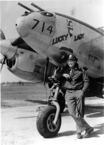 "Arnold Helding and his ""Lucky Lady"". In 1944 in France, a member of his group, LeRoy Lutz, flew this plane and got hit by the German flack on a mission. He crashed near the little town of Mardeuil in circumstances similar to those of this novel."